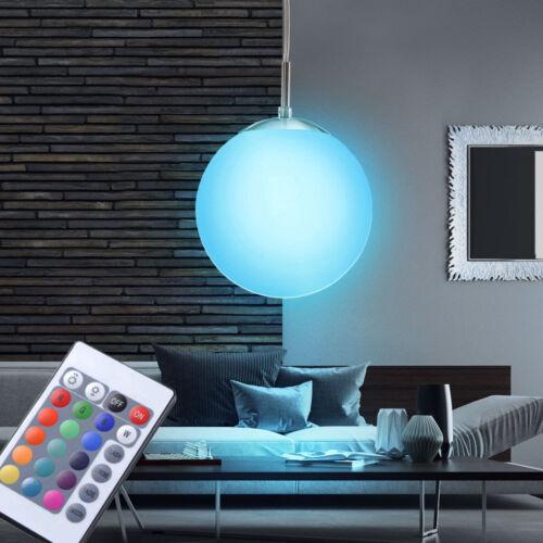 LED Kugel Pendel Decken Hänge Lampe RGB Fernbedienung Leuchte Glas Büro dimmbar