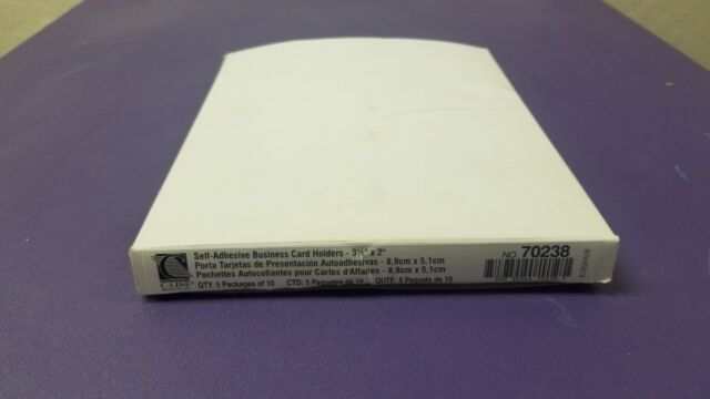 Cli 70238 C Line Self Adhesive Business Card Holders Cli70238 Ebay
