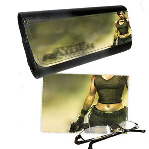 Details about Lara Croft Tomb Raider Underworld, Reading Glasses Case &  Lens Cleaning Cloth