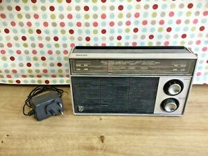 VINTAGE 1971 PHILIPS RL 210 RADIO TESTED AND WORKING