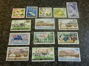 COOK ISLANDS POSTAGE STAMPS SG179-193 LIGHTLY-MOUNTED MINT