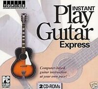 Instant Play Guitar Express Pc 2 Cd Set Factory Sealed Computer Based Course