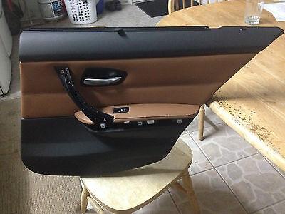 BMW E90 3 SERIES 330i 325i 328i RIGHT BACK INTERIOR DOOR PANEL TRIM CINAMON