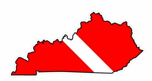 Kentucky State Y18 Diver Down Flag Vinyl Decal Sticker Car Laptop//Netbook