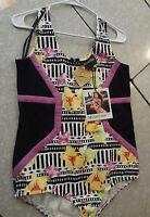 Leotard With Tag Mink Pink L One Piece Bodysuit Colorful Dance Minkpink
