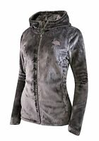 Women's The North Face Osito Hoodie Silky Fleece Jacket Full Zip Size Xxxl Gray