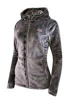 Women's The North Face Osito Hoodie Silky Fleece Jacket Full Zip Size Xxxl Gray