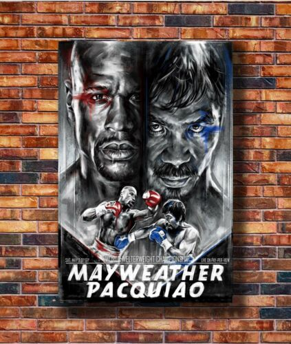 Art Floyd Mayweather Vs Manny Pacquiao 2015 Fight Boxing Poster Hot Gift C941