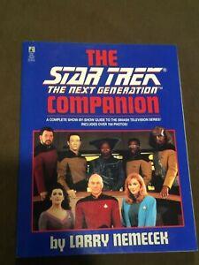 Star-Trek-The-Next-Generation-TNG-Companion-Large-Softback-Book-Larry-Nemecek