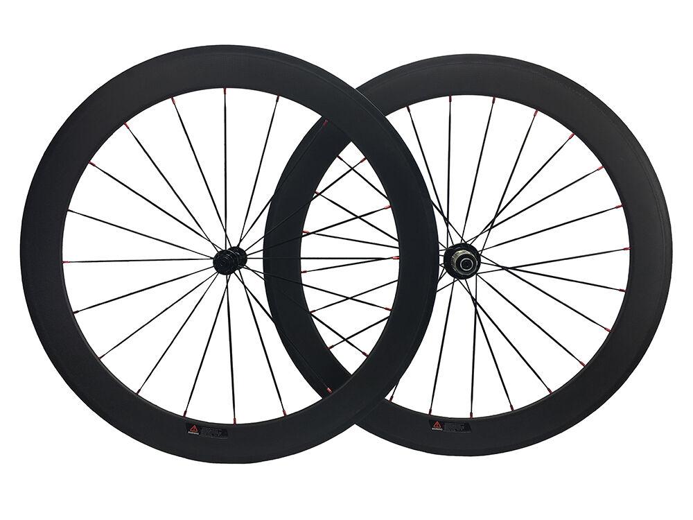 Carbon Bike Wheels 50mm Road Bicycle Tubular Carbon Wheelset 20.5mm R13 Hub 700C