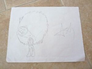 ASHLEY-Black-Veil-Brides-1-Of-A-Kind-Fan-Drawing-Signed-Autographed-8-5-x-11