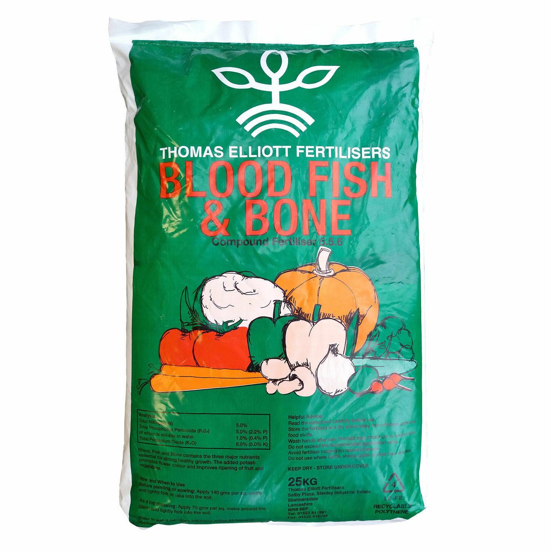 25kg THOMAS ELLIOTT Blood Fish Bone Meal Multi Purpose Organic Fertiliser FP