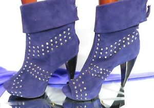 POUR-LA-VICTOIRE-purple-suede-studded-open-toe-ankle-boots-high-heel-UK-8-EU41