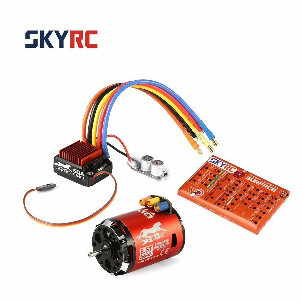 Skyrc Cheetah 4000kv 8.5t sensorojo brushless motor & cs60 60a ESC Combo