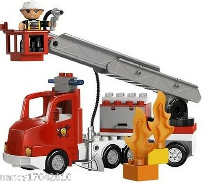 Lego Duplo Ville 5682 Feuerwehr Auto Mann Fire Truck Feuerwehrwagen