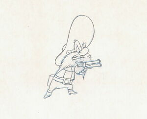 Yosemite-Sam-Drawing-cel-Warner-Bros-WB-1983-Daffy-Duck-039-s-Fantastic-Island