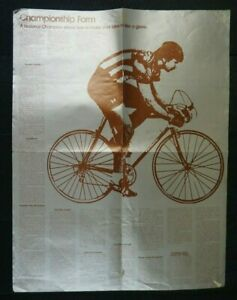 2 sided Bicycle Make Your Bike Fit Like A Glove & Gearing Wall Poster Bicycling