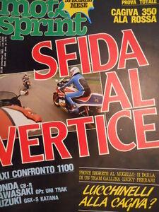 sc.31 Mon ChéRi Motosprint 38 1983 Test Totale Cagiva 350 Ala Rossa Honda Cb-r1000 Rendre Les Choses Commodes Pour Le Peuple