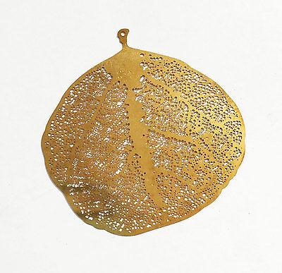 6 stamped leaf pendant 52x50mm