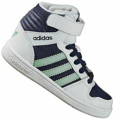 Adidas Originals Pro Play Confort Bébé Enfants Hi Top Chaussures Baskets Blanc | eBay
