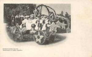 McKinley-School-Tallyho-Tournament-of-Roses-Pasadena-Parade-Float-c1907-Postcard
