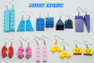 LEGO-Dangle-Assorted-Brick-Earrings-Blue-Purple-Pink-Red-Yellow-FREE-POST
