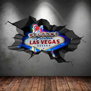 Image is loading FULL-COLOUR-LAS-VEGAS-SIGN-CASINO-3D-WALL-
