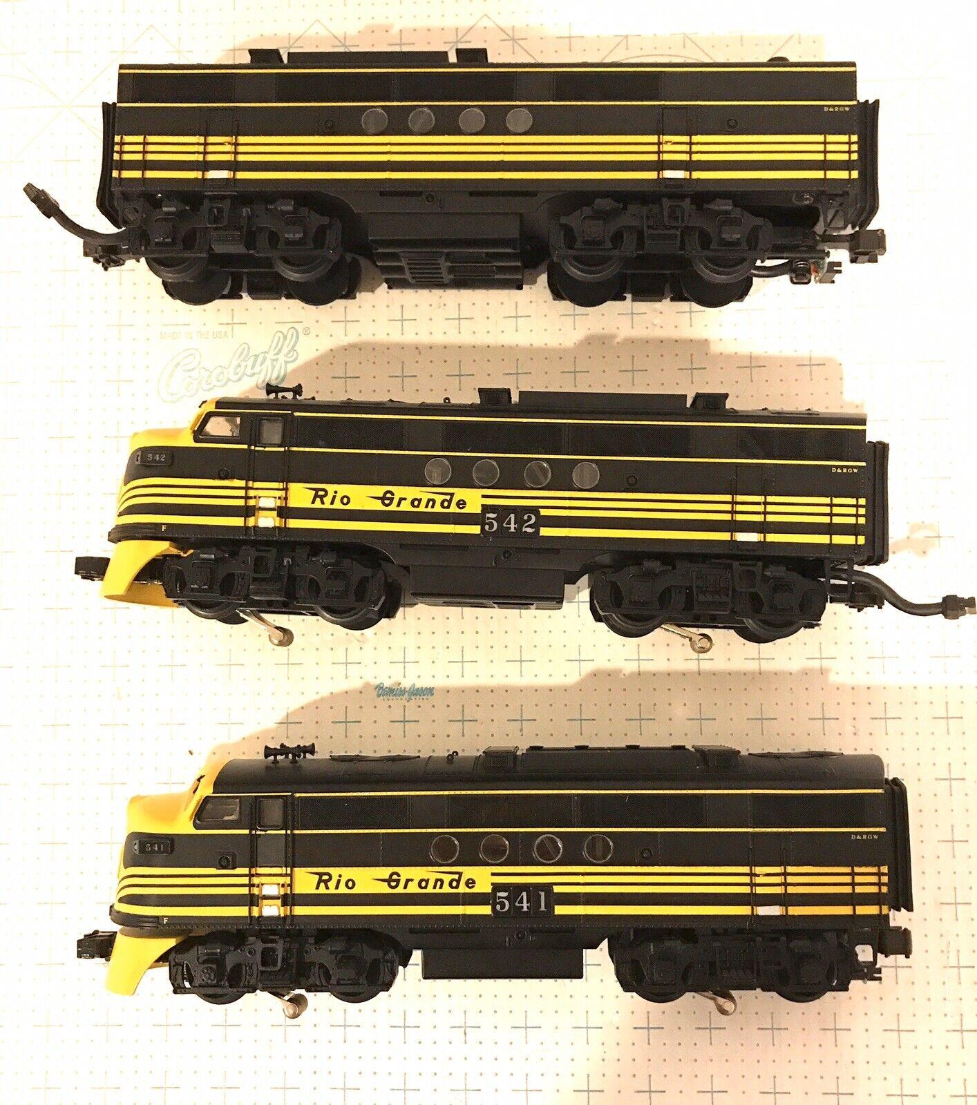 MTH O Scale 20-2272-1 Denver Rio Grande FT ABA Diesel Set W  P.S. 2.0 in Box