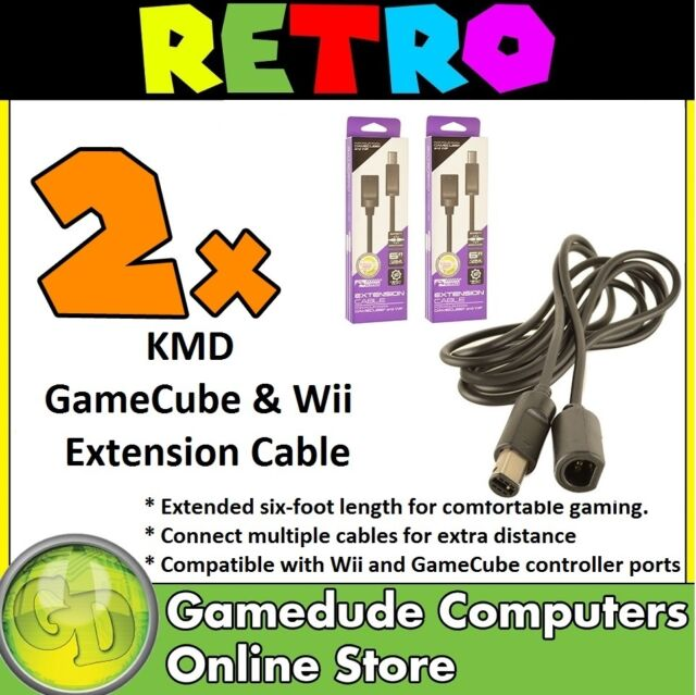 2x KMD GameCube & Wii Joypad Extension Cable 6FT MODEL : KMD-GC-1682 [F03]
