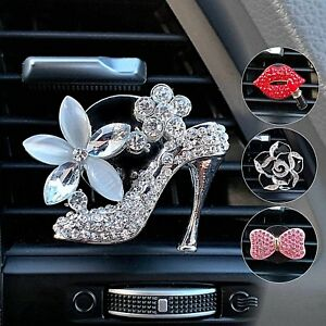 Details about Rhinestone Car Air Freshener Vent Clip Charms, Crystal Bling  Car Accessories