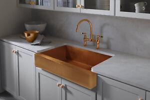 hand hammered copper apron farmhouse kitchen sink 30 x20 ebay rh ebay com