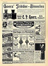 C.P.Goerz Berlin-Friedenau Trieder-Binocles A.O.Wagner Lauscha Christbaum...1901