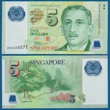 SINGAPUR / SINGAPORE 5 Dollars (2005) Polymer UNC  P. 47 a