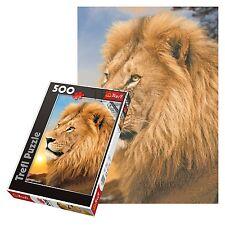 TREFL 500 pezzi adulto grande PAVIMENTO LION SUNSET RITRATTO telaio Puzzle NUOVO