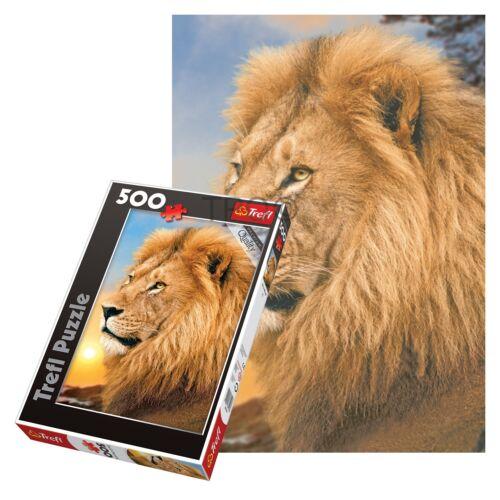 Trefl 500 Piece Adult Large Floor Lion Sunset Portrait Frame Jigsaw Puzzle NEW