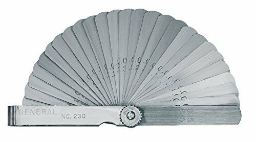 26-Leaf with Metric and English Units General Tools 230 Economy Feeler Gage