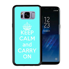 Baby Blue Keep Calm and Carry On For Samsung Galaxy S8 Plus + 2017 Case Cover by
