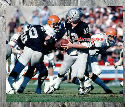 KEN STABLER OAKLAND RAIDERS 8X10 HIGH GLOSSY SPORTS ACTION PHOTO O