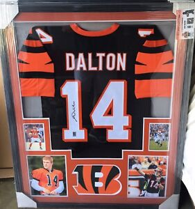 Image is loading ANDY-DALTON-Autographed-custom-framed-jersey-Cincinnati- Bengals- fb05828f3