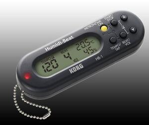 KORG-Humidi-Beat-HB-1-Metronome-Thermo-und-Hygrometer-Metronom-schwarz-o-weiss