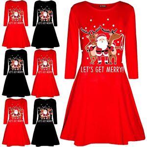 3c6995e275b7 Image is loading Womens-Ladies-Christmas-Santa-Rudolph-Beer-Xmas-Long-