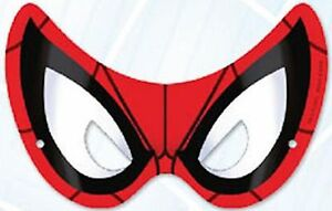 Spiderman-Party-Supplies-Pary-Masks-8-pack-Cardboard-with-Adjustable-Elastic