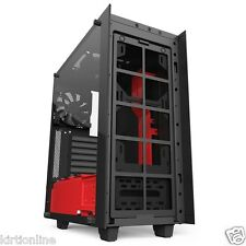 NZXT S340 Elite Matte Black+ Red Midtower Case with 3.0 USB - Black+ Red