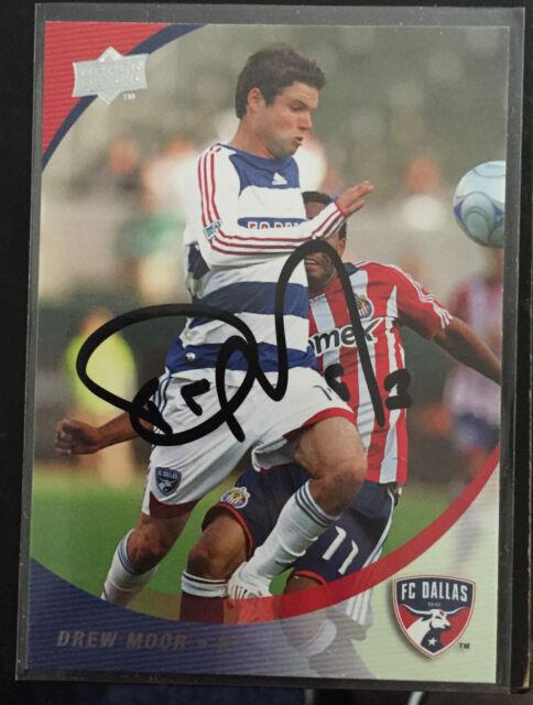 FC Dallas Drew Moor Autographed 2008 Upper Deck UD MLS Card