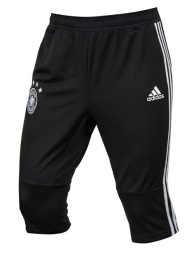 Adidas Men Germany 3//4 DFB Shorts Pants Black Soccer Football Bottom Pant CE6573
