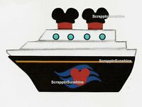 Disney Cruise Ship Vacation - Scrapbook Page Printed Paper Piece - Ssffdeb