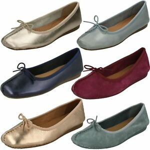 06f0e21fd Ladies Unstructured By Clarks Slip On Ballerina Flats Freckle Ice 17 ...