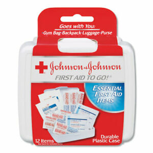 Red Cross Mini First Aid To Go Kit, 12 Piece Kit, Plastic Case, Each (JOJ8295)
