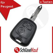 Peugeot 2 Tasten Autoschlüssel Gehäuse Citroen 106 206 207 306 307 406 806 Neu