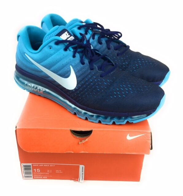 buy online be95a 4d4d4 Nike Air Max 2017 Running Shoes Binary Glacier Blue 849559-404 Size 15